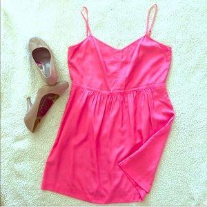 J Crew Hot Pink Strapless Dress Sz 4